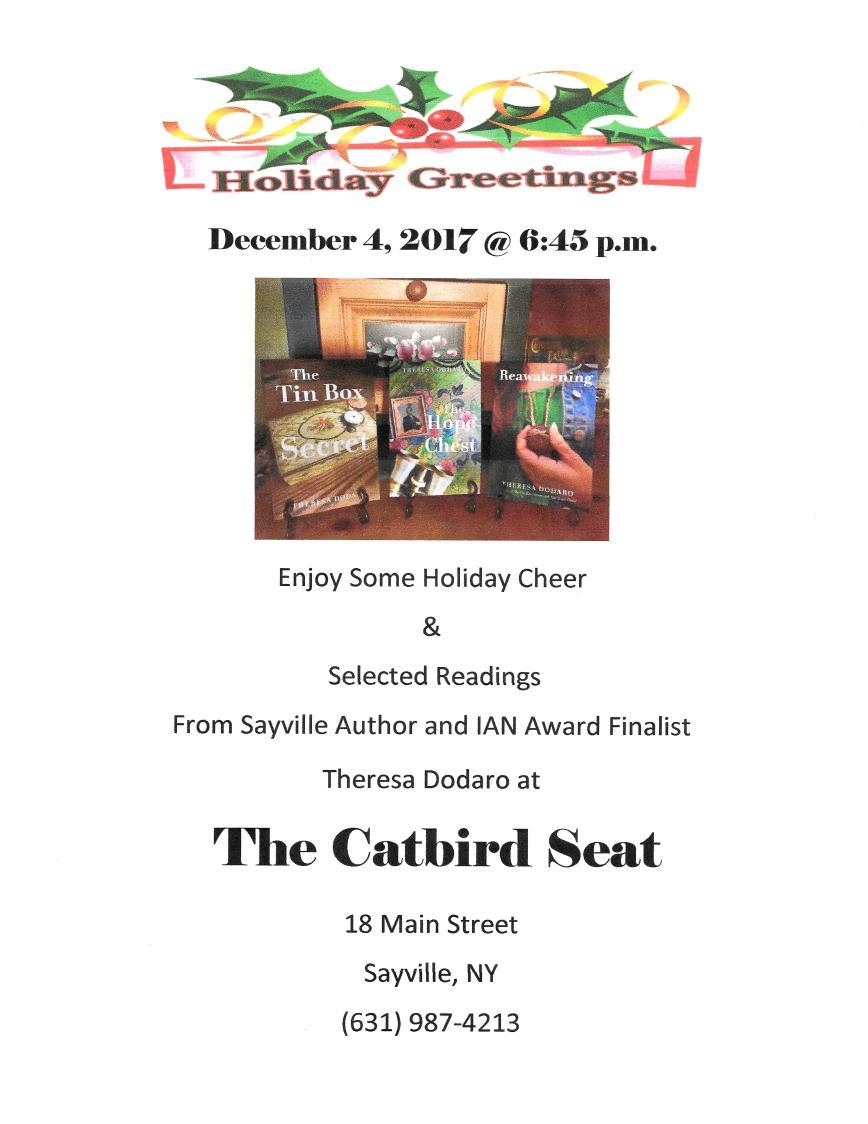 Catbird Seat Holiday Reading